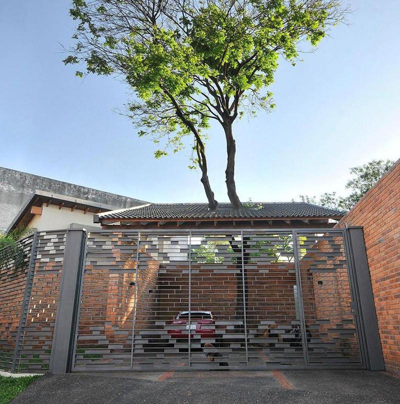 13. Casa Del Bosque дерево, здание