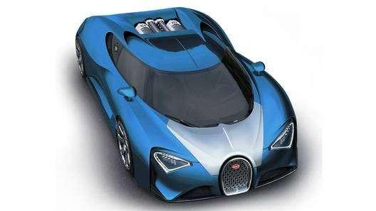 """Bugatti показала первое видео с преемником """"Вейрона"""""""