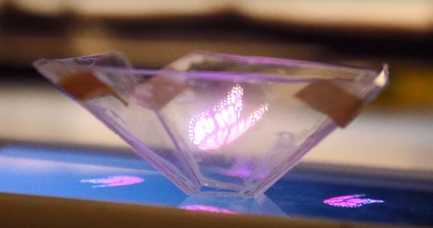 Видеоинструкция как превратить свой смартфон в проектор трёхмерной голограммы