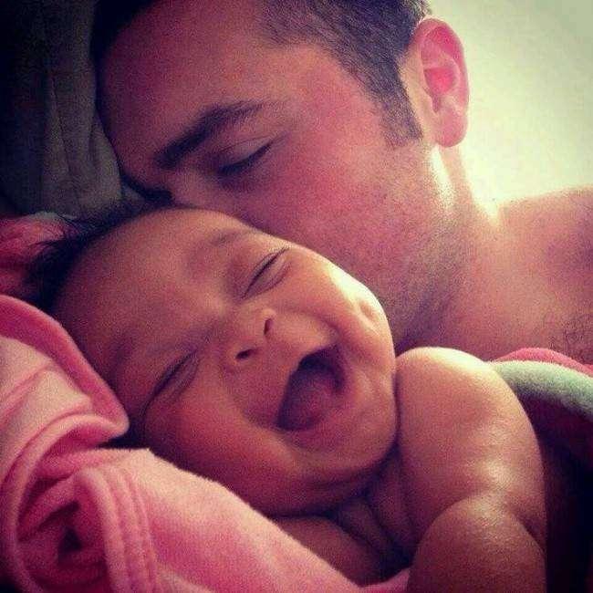 Фотоподборка счастливых отцов