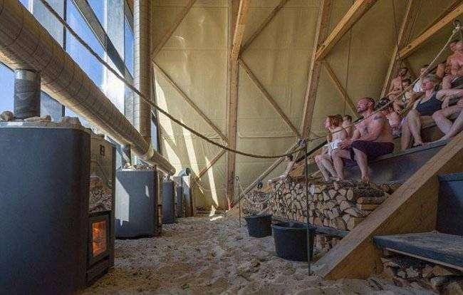 Самая большая сауна в мире (8 фото)
