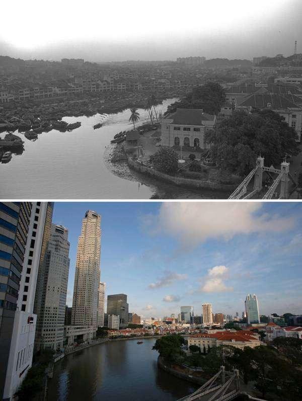 Фото Сингапура 50 лет назад и сейчас (9 фото)