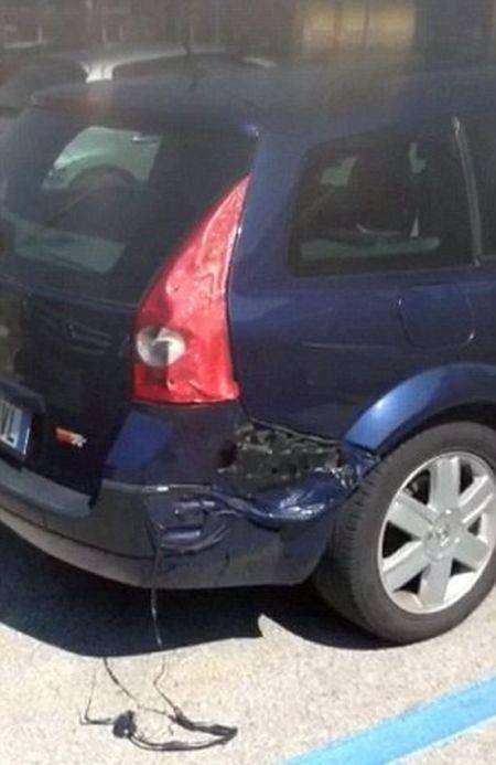 Автомобиль не устоял под лучами итальянского солнца