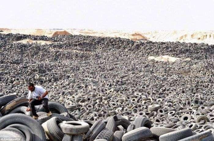 Самое большое кладбище автомобильных шин (7 фото)