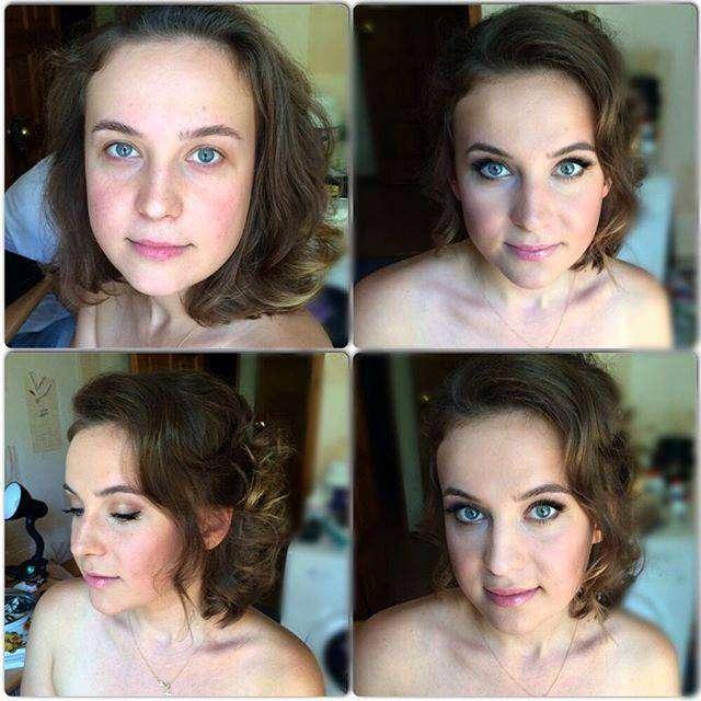 Преображение девушек при помощи макияжа (23 фото)