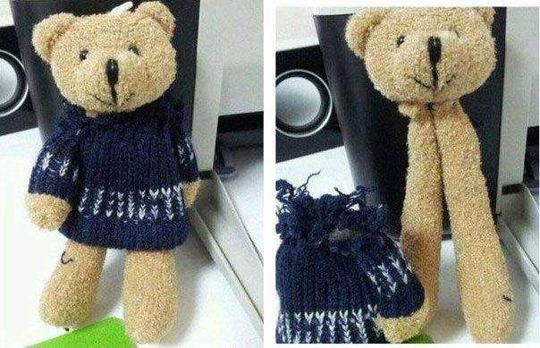Зачем шить медведю туловище, когда можно пришить только лапы? китай, халтура