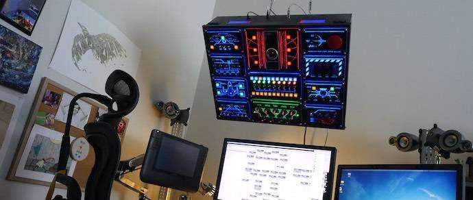 Энтузиаст превратил свое рабочее место в «капитанский мостик» космического корабля