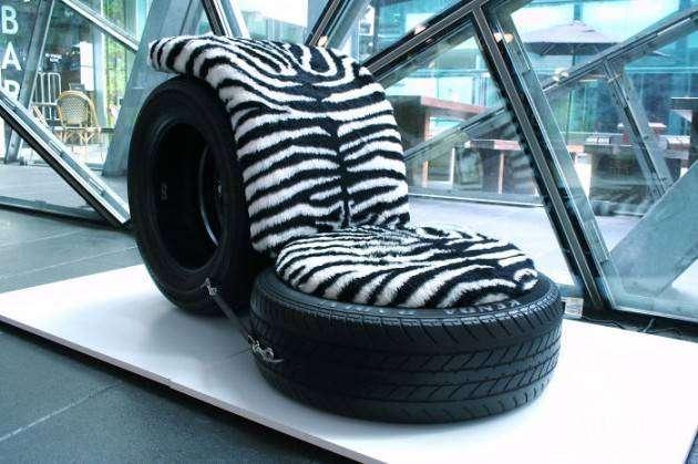 Кресло из шин пошагово