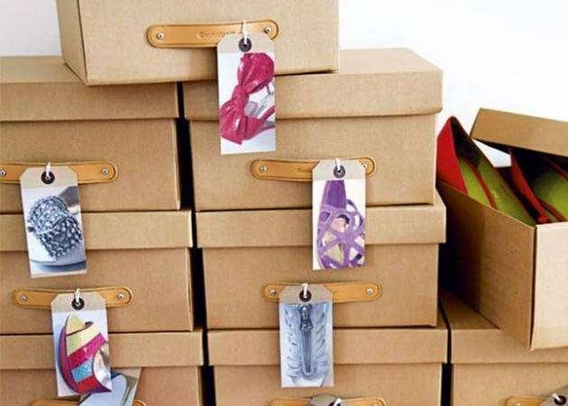 Хранение вещей в шкафу: этикетки с фото