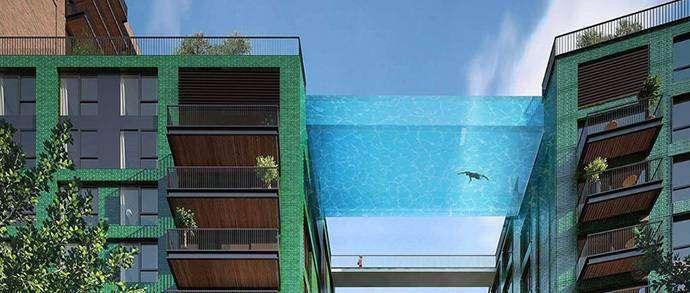 В Лондоне построят стеклянный бассейн, «зависший» на высоте 35 метров