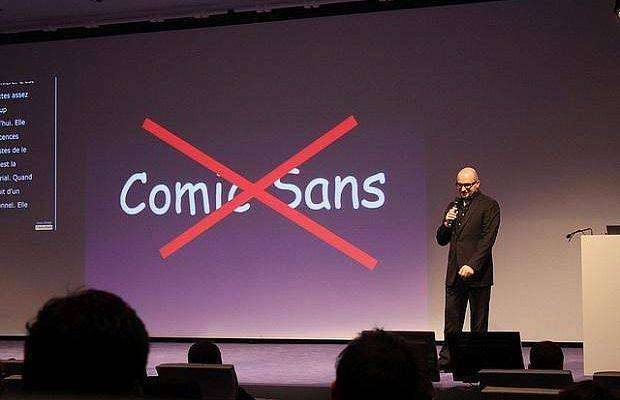 7. Comic Sans. Винсент Коннаре, придумавший знаменитый шрифт Comic Sans, как-то сказал: «Если выобожаете этот шрифт, тонеразбираетесь втипографике». Азатем добавил: «Если выего ненавидите, тотоже неразбираетесь втипографике». Коннаре разработал Comic Sans для замены Times New Roman вдетских комиксах, ношрифт широко разошёлся помиру, иего часто используют непоназначению.