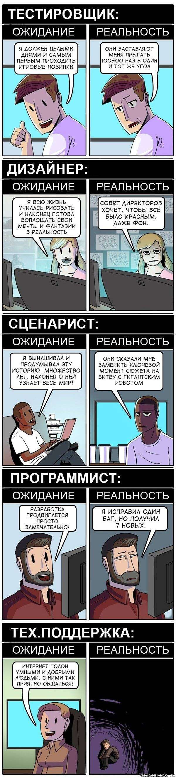 Комикс Работа мечты