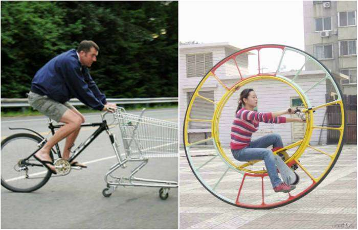 Оригинальные, забавные и шокирующие примеры транспортных средств.