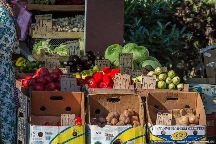 Цены на овощи и фрукты в Крыму