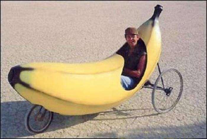 И как называется этот гибрид велосипеда и банана: бананопед или велобан?
