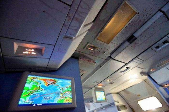 Жуткие последствия турбулентности в самолёте (12 фото)