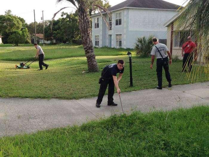 Пожарные закончили работу, которую начал пожилой мужчина (4 фото)