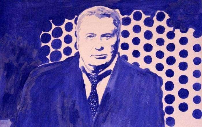 Питерская художница нарисовала грудью портреты Путина и Медведева (6 фото)