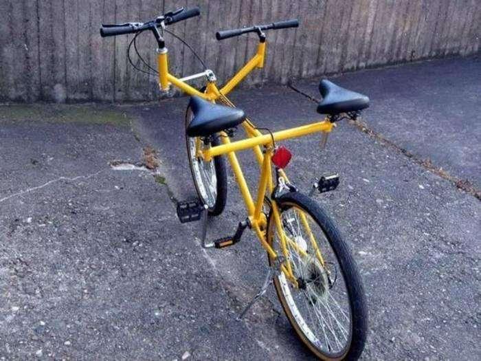 Велосипед для влюбленных пар.