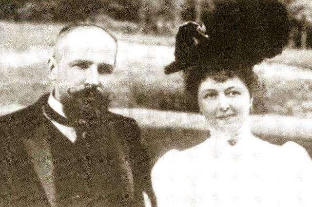 Петр Столыпин с супругой, 1906 год.