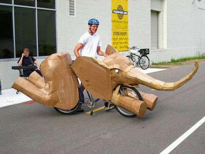 Велосипед, который прикидывается слоном.