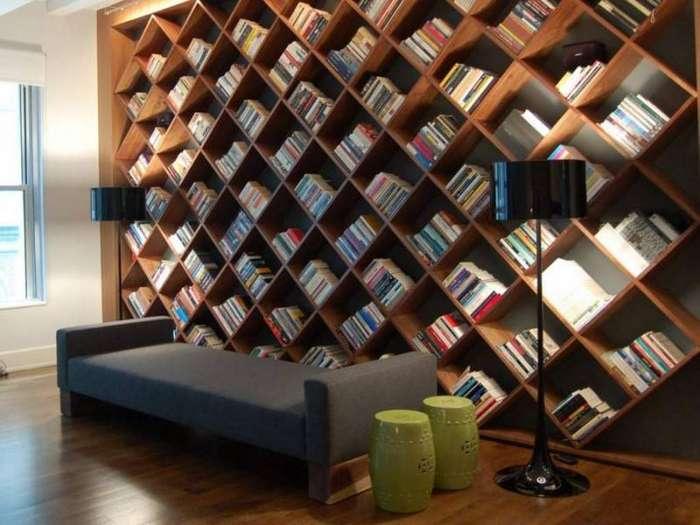 20 самых креативных книжных полок в мире