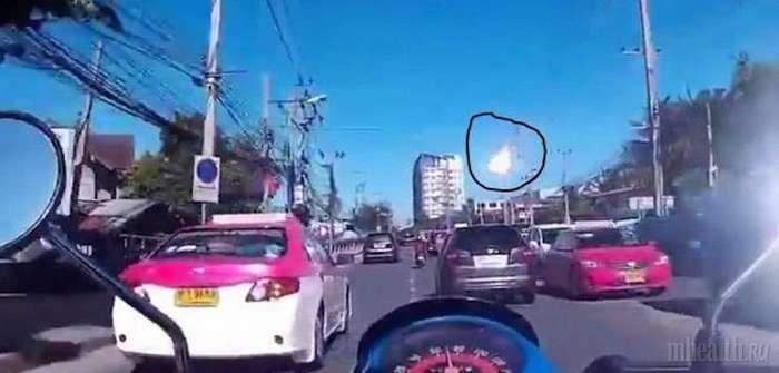 В небе над Таиландом пронесся обломок спутника