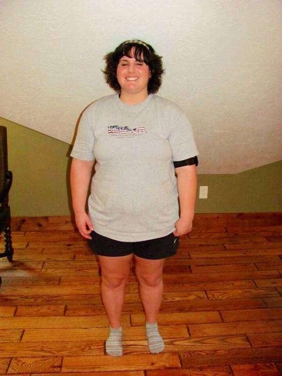 Бриттани Бегандер, испытала и анорексию и  ожирение (9 фото)