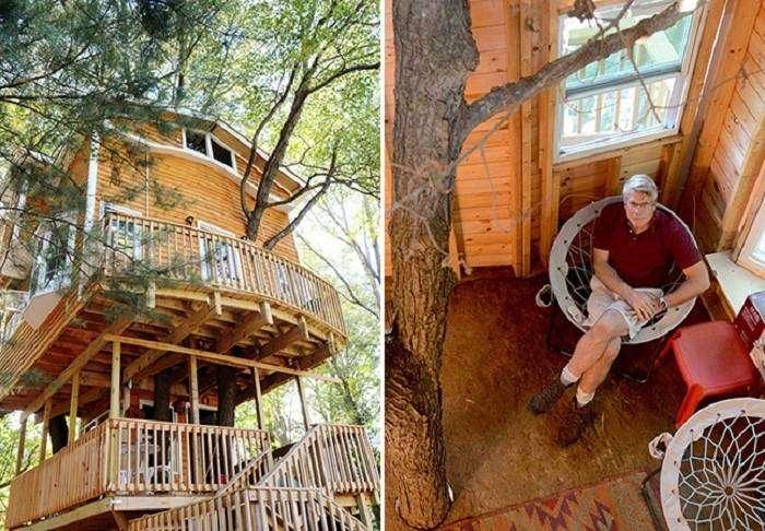 3-этажный особняк на дереве.