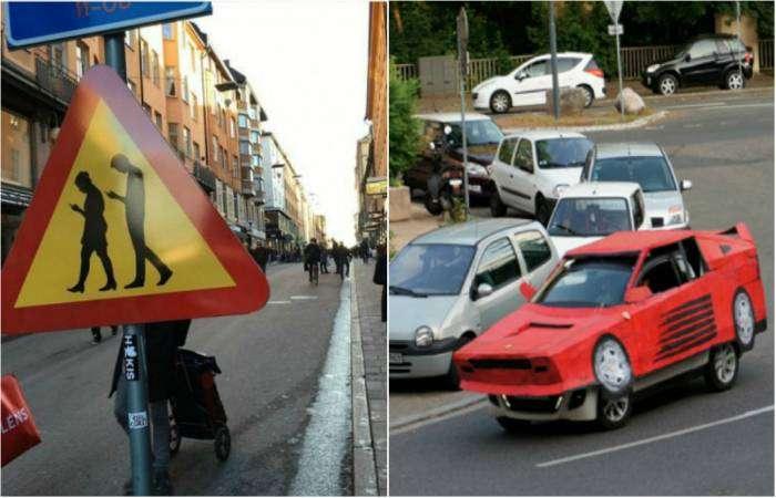 Подборка автомобильного юмора.