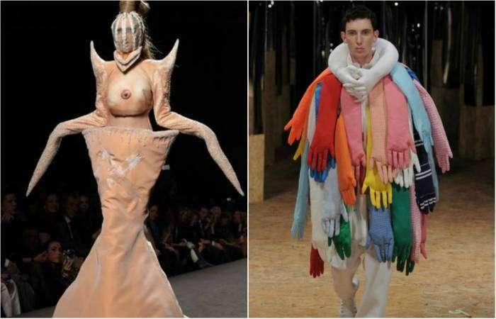 Сумасшедшие наряды от известных дизайнеров.