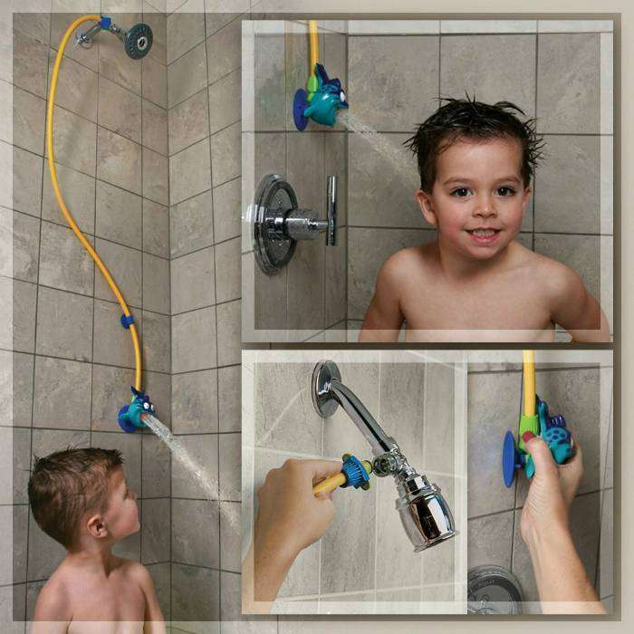 Забавное приспособление для детского душа.