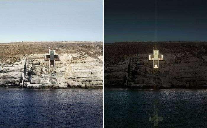 Часовня-крест в Греции (12 фото)