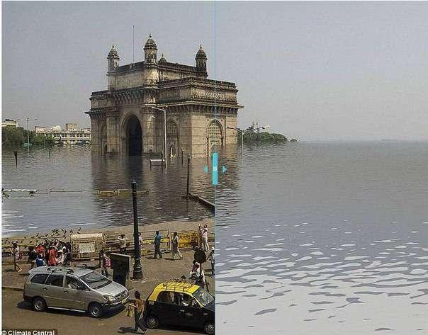 Как будут затоплены крупные города через 100 лет (6 фото)