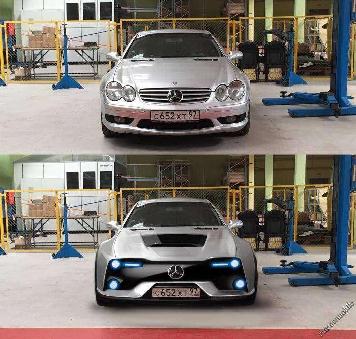 "Сотрудники проекта ""ё-мобиль"" доработали Mercedes SL55 AMG (10 фото)"