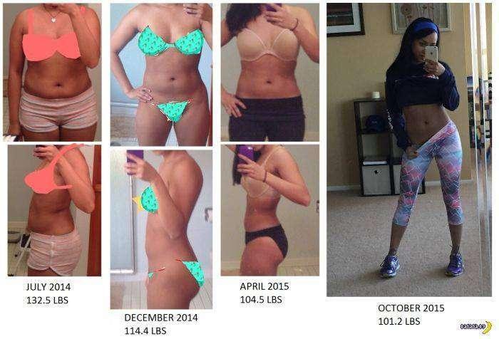 Похудевшие –фото до и после