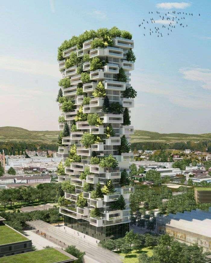Первый «зеленый» небоскреб (5 фото)