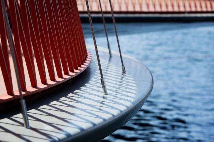 Cirkelbroen – необычный пешеходный мост в Дании (9 фото)
