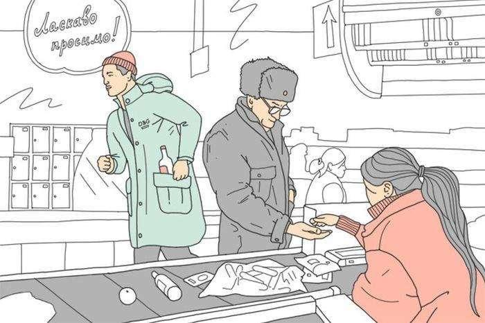 Как всё устроено: Работа охранника в супермаркете (3 картинки + текст)