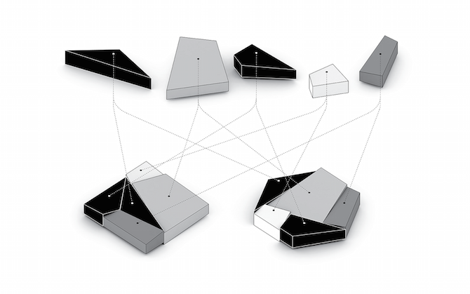 Два дома геометрической формы (11 фото)