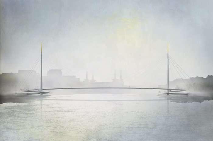 Концепт первого моста без автомобилей в Лондоне (6 фото)