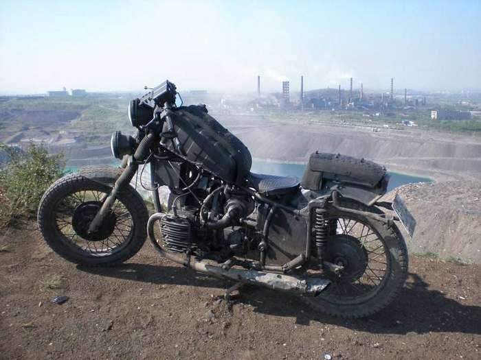 30 примеров шикарного тюнинга мотоцикла «Урал»