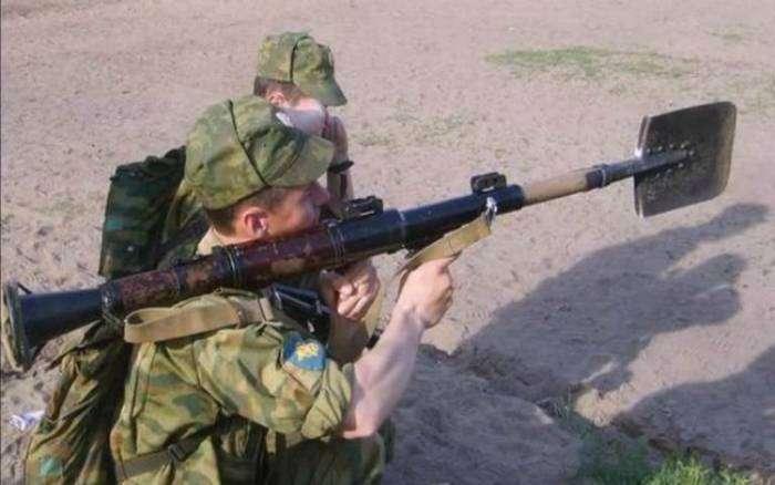 Русская армия - самая суровая и находчивая.