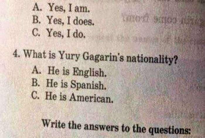 Возможно, Юрий Гагарин был испанцем?!