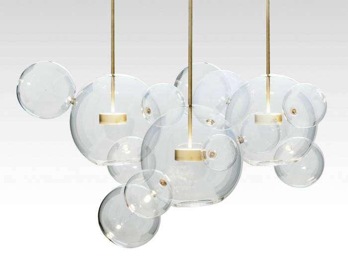 Фантастическая лампа ручной работы в виде мыльных пузырей от дизайнеров студии Giopato & Coombes.