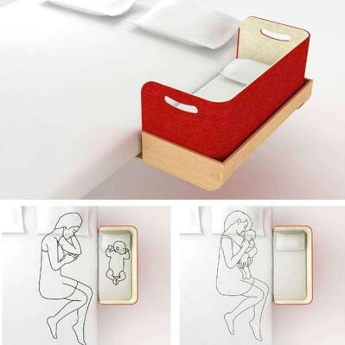 Детская кроватка, которая крепиться к родительскому ложу и способствует комфортному сну родителей и малыша.