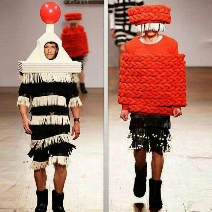 Эпатажные костюмы для мужчин.