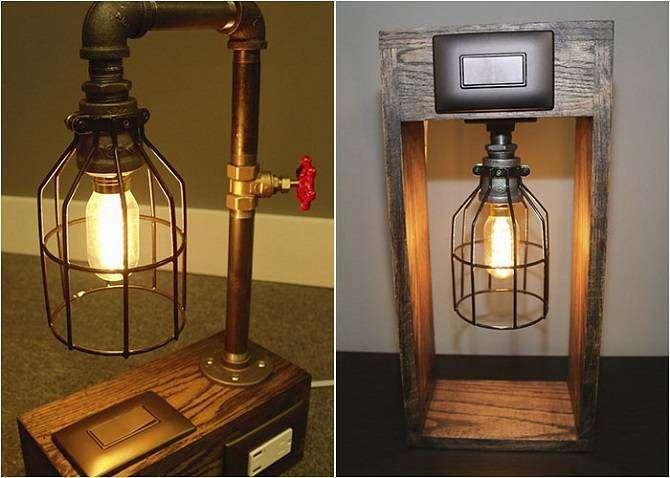 15 потрясающих настольных ламп в индустриальном стиле