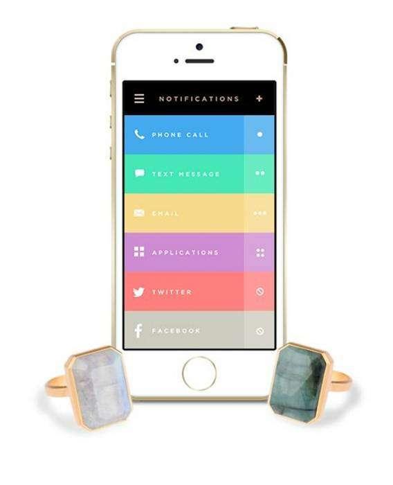 Кольцо, которое меняет цвет, информируя владельца о пропущенном звонке и новых сообщениях на почте или социальных сетях.