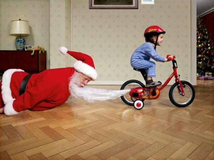 Бедный Дедушка Мороз!